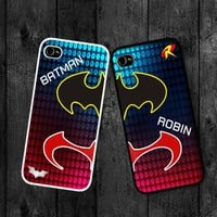 Batman and Robin Twin Hero cases :Case For Iphone 4,5/Samsung S2,3,4
