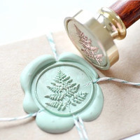 Fern Leaf Gold Plated Wax Seal Stamp x 1