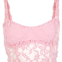 Pink Longline Lace Bra - View All  - New In