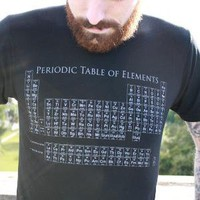 Periodic Table TShirt Black American Apparel by darkcycleclothing
