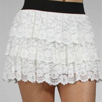 Ivory Lace Skirt