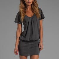 Bobi Light Weight Jersey Scoop Neck Dress in Empire from REVOLVEclothing.com