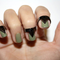 nail traingle rings by superwicked on Etsy