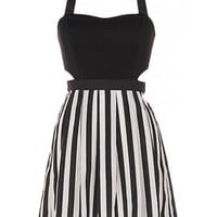 Stripe Cut Out Dress