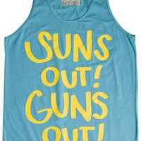 WELLEN SUNS OUT GUNS OUT TANK &gt; Mens &gt; Clothing &gt; Tanks | Swell.com