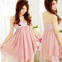 sincerely — Wipes bosom fashion chiffon dress