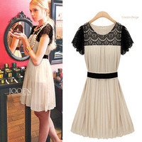 brilliant — Chiffon dress summer lace dress