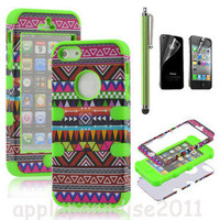 brilliant — 2321 Totem Protective Case For Iphone 4/4s with pen and sticker