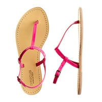 Neon Azalea Girls' patent T-strap sandals - flip-flops & sandals - Girl's shoes - J.Crew