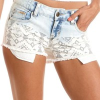 Hot Kiss Tribal Dip-Dye Short: Charlotte Russe