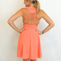 Ray Of Light Dress in Salmon -  $34.00 | Daily Chic Dresses | International Shipping
