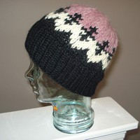 Ready to ship /Handmade/Hand  Knitted Toque Hat Cowichan