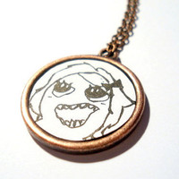 Derpina Meme Necklace by RIXalien on Etsy