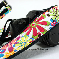 Flower Power dSLR Camera Strap, Pocket, SLR