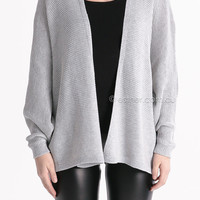 making the most of it cape knit - silver/grey at Esther Boutique