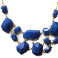 Blue Chunky Bubble Necklace