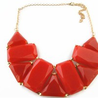 Orange Geometric Bubble Necklace