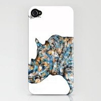 Rhinoceros iPhone Case - Print Shop