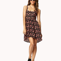 Lattice Cutout Floral Dress | FOREVER21 - 2050575041