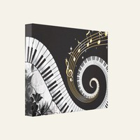 Piano Swirled Keys Surreal Music Fantasy Stretched Canvas Print from Zazzle.com