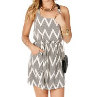 Black Ivory Distress Chevron X Back Dress