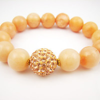 Peach Jasper Bracelet Arm Candy Gumball Summer Trends