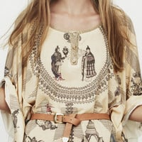 Nanushka - LUXE - Story print dress