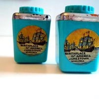 Vintage Salt and Pepper Shakers Jamestown VA Souvenir Shakers Nautical by GentlyLovedTreasures