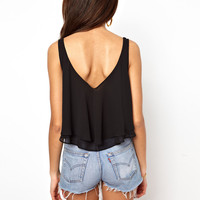 River Island Double Layer Crop Top