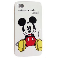 Amazon.com: Disney ® Mickey Mouse Flexible TPU SKIN Protector Case Cover (Classic Mickey) for Apple iPhone 4S / 4G / 4 (Fits any carrier AT&T, VERIZON AND SPRINT) + Free WirelessGeeks247 Metallic Detachable Touch Screen STYLUS PEN with Anti Dust Plug: Ever