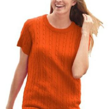 Amazon.com: Plus Size Pure Cotton Cable Knit Sweater: Clothing