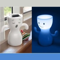 Globoy Blue Light Solar Night Lamp (White)