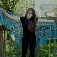 Ianthe A wonderfully textured shawl | shouldntsaythat - Crochet on ArtFire