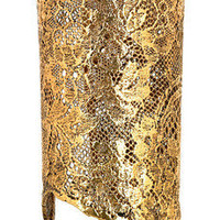 Aur?lie Bidermann|18-karat gold-dipped lace cuff|NET-A-PORTER.COM