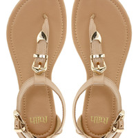 Faith Jayden Nude T Bar Flat Sandals