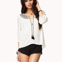 Arrowhead Peasant Top