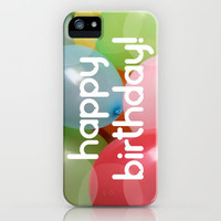 Balloon Love: Happy Birthday! iPhone & iPod Case by Ornaart