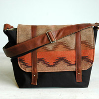 Pendleton Wool Chenle pattern Wool & Canvas Messenger by appetite