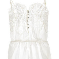 Rosamosario | Buongiorno Dolcezza silk-georgette and Chantilly lace camisole | NET-A-PORTER.COM