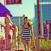 Striped Retro Playsuit