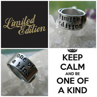 limited edition/one of a kind motivational rings choose one