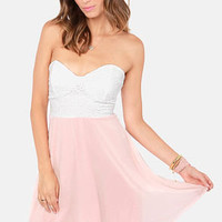 Eyelets Fall In Love Lace Pink Dress