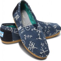Navy Geometry Women's Vegan Classics