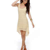 Cute Cream Dress - Crochet Dress - Ivory Dress - $44.50