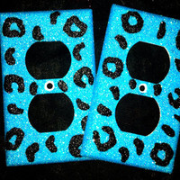 Glittered Cheetah Outlets or Light by MelaniesGlittermania on Etsy