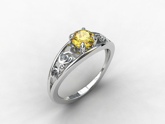 imperial topaz engagement ring filigree from
