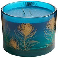 Pier 1 Imports - Peacock Filled Candle
