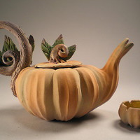 Cinderellas Midnight Tea by Nancy Y Adams: Ceramic Teapot - Artful Home