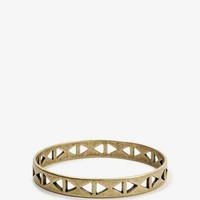 Triangle Cutout Bangle
