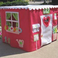 Double Delight Card Table Playhouse by missprettypretty on Etsy